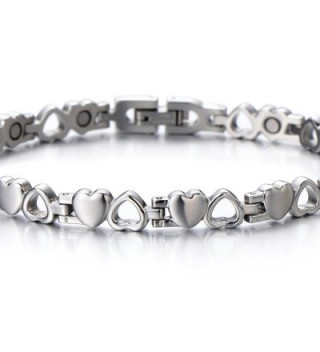 Lovely Bracelet Magnets Polished Removal in Women's Link Bracelets