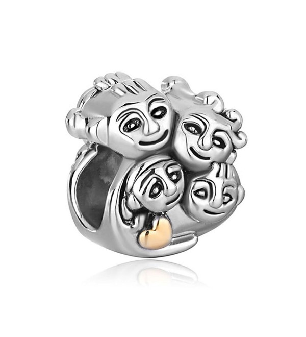 CharmsStory Family Mother Daughter Dad Son Charm Beads For Bracelets - CK12MZPO234