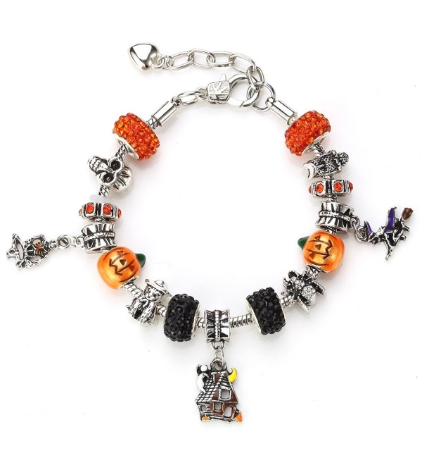 Novadab Spooky Halloween Shamballa Charms (includes six beautiful shamballa beads) - CR184AKLIEL