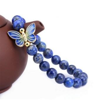 Simulated Lapis Sterling Cloisonne Butterfly Bracelet in Women's Bangle Bracelets
