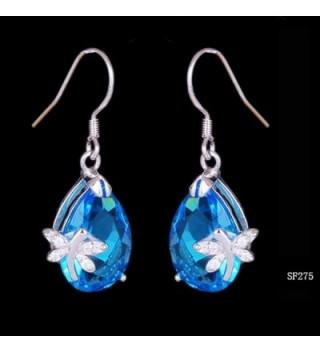 Bigood Crystal Dragonfly Earings Eardrop in Women's Drop & Dangle Earrings