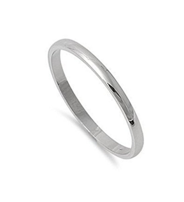 2mm Stainless Steel Comfort Fit Unisex Wedding Band Ring Sizes 5- 6- 7- 8- 9- 10- 11- 12- 13 w/ Gift Pouch (8) - CR129NMKH5Z