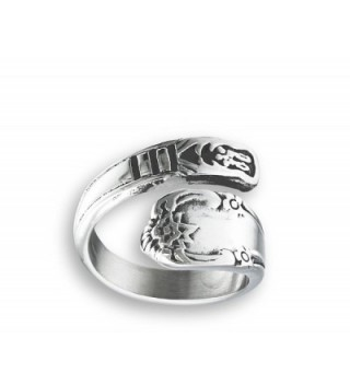 44c432aad325b Victorian Claddagh Style Open Wrap Spoon Ring Stainless Steel Band Sizes  7-10 - CK182ZUAT25
