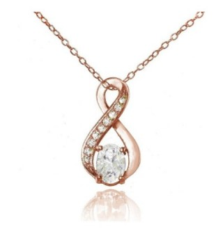 Sterling Silver Cubic Zirconia Infinity Drop Necklace - CQ1846LNACR