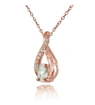 Flashed Sterling Zirconia Infinity Necklace