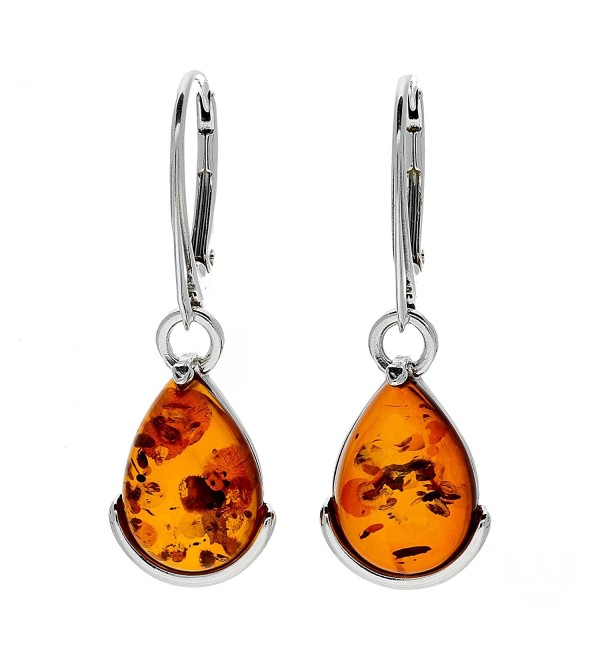 COGNAC BALTIC AMBER STERLING SILVER 925 BEAUTY EARRINGS. KAB-7 - CX12NTBS11O