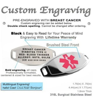 MyIDDr Pre Engraved Customizable Medical Bracelet