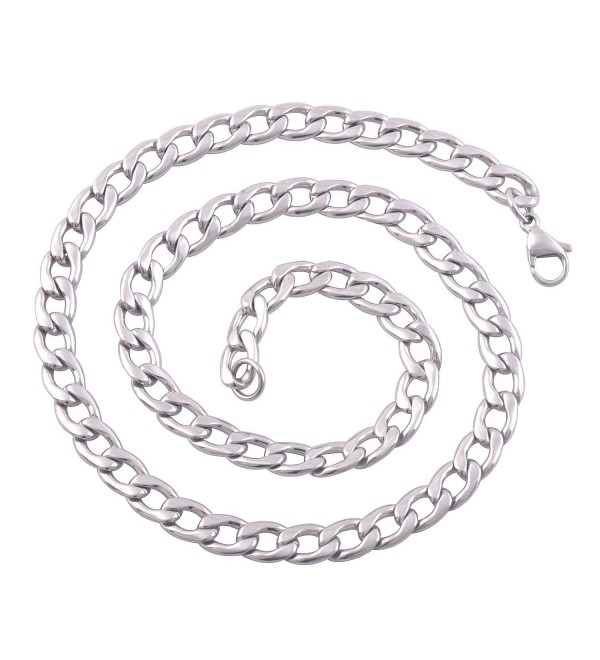 "3.8mm Michley Stainless Steel Link Chain Necklace 16-40"" Inches-width 0.15""(3.8mm) - C811VQUR0ML"