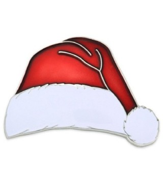 PinMart's Christmas X-Mas Santa Hat Holiday Enamel Lapel Pin - CH12N6BOS2V