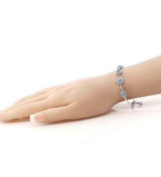 Gemstone Birthstone Sterling Silver Bracelet in Women's Tennis Bracelets