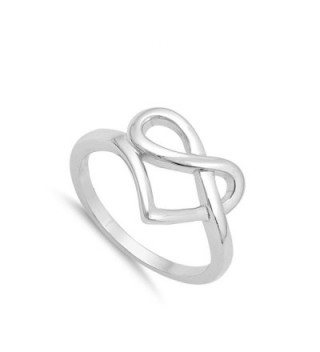 Pretzel Infinity Promise Sterling Silver