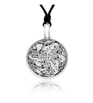 Dan's Jewelers Celtic Horse Necklace Pendant Irish Triskele Knot Spiral Pattern- Fine Pewter Jewelry - CP11176H10P