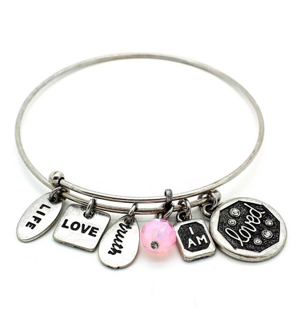 Symbology Loved Bangle Bracelet Silver - CU128KXLKLD