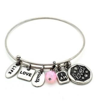 Symbology Loved Bangle Bracelet Silver - CU128KXLKLD