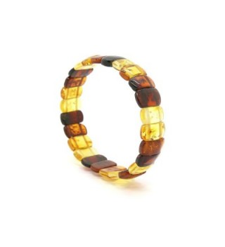 Genuine Natural Baltic Amber Stretch Bracelet For Women - Multicolored - C911UOEF70H