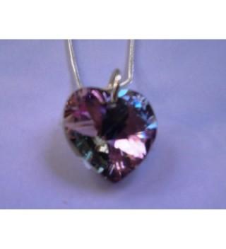 Sister Lavender Swarovski Crystal Sterling in Women's Chain Necklaces