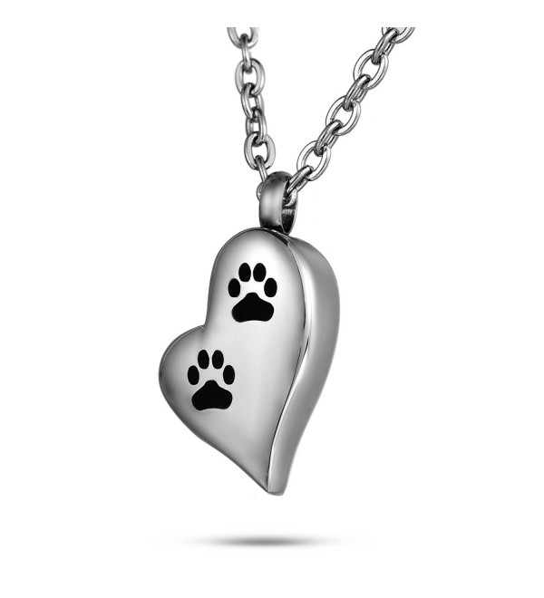 FCZDQ Cremation Jewelry Sleeping Dog Memorial Keepsake Ashes Urn Pendant Necklace with Funnel Kit - Silver3 - CW1832NDANI
