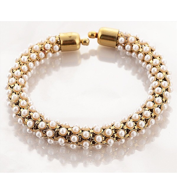 Zephyrr Adjustable Golden Pearls Kadaa Bracelet For Women - Golden - C9127EMRJVB
