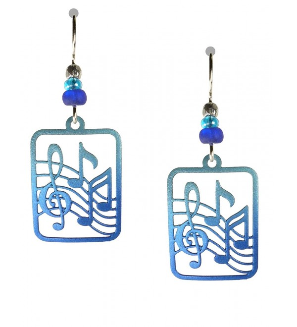 Sienna Sky Blue Treble Clef and Notes Earrings 1825 - C211JSQTLBN