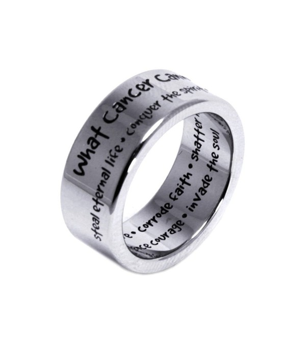 What Cancer Cannot Do Ring - Cancer Ring - Cancer Awareness Gifts - Recovery Jewelry - Inspirational Ring - CK11E9EAGU3