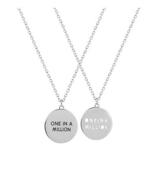 Lux Accessories Best Friends Bff Forever One In A Million Circle Charm Pendant Necklaces .(2 Pc) - CA11M4LOWA3