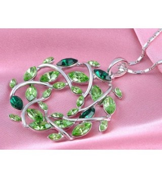 Alilang Silvery Gemstones Christmas Necklace