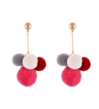 Lureme Lovely 5-Tone Multi Color Gold Post Pom Pom Earrings for Women and Girls (er005487) - CP182GGG9DM