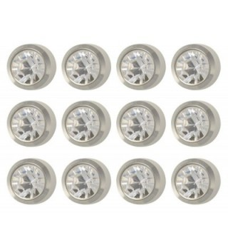Caflon Surgical Steel White Stone Color 4mm Ear Piercing Earring Studs 12 Pair White Metal - CA11ZZV9MTB