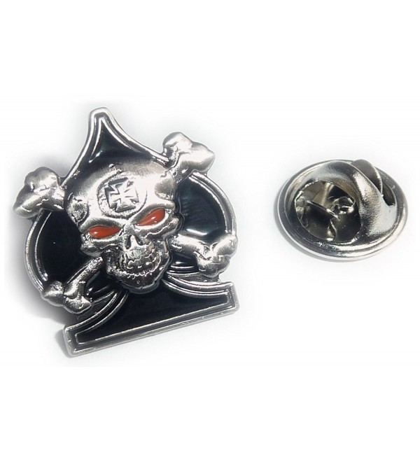 Ace of Spades Death Card Skull & Crossbones Iron Cross Sniper Lapel Pin - CO115WSBF9H