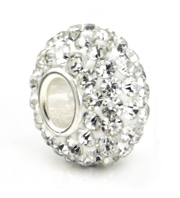 Pro Jewelry .925 Sterling Silver Clear Crystal Charm Bead - CH115M3366R