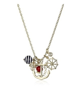 Lux Accessories Goldtone Nautical Necklace