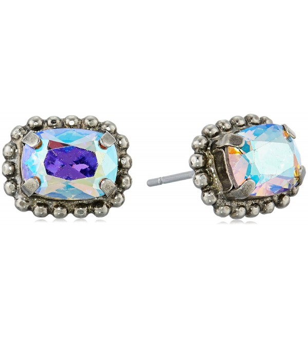 "Sorrelli ""Rainbow Quartz"" Mini Emerald Embellished Post Stud Earrings - CV17XQ8I5DS"