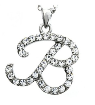 SoulBreezeCollection Initial Letter Pendant Necklace Charm Ladies Teens Women Fashion Jewelry Charm - CC118ZZJN61