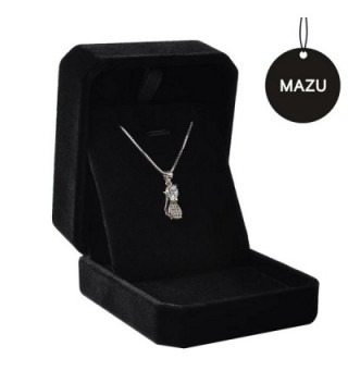 MAZU Necklace Sterling Zirconia Shinning