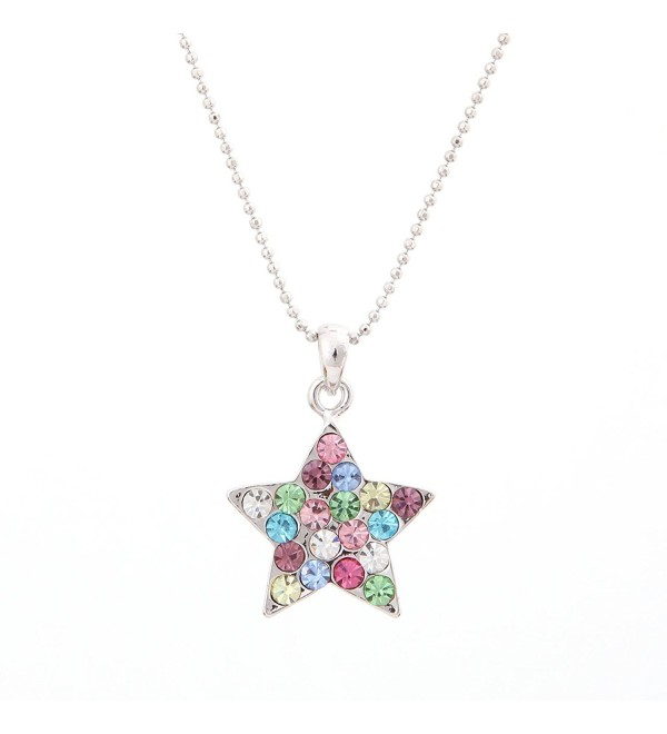 Swarovski Star Multi Colored Crystal Element Pendant - C611BC54XYN