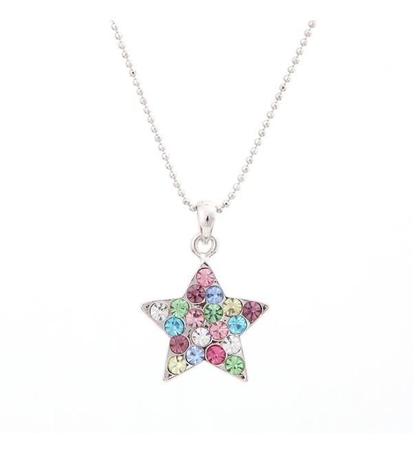 Swarovski Star Multi Colored Crystal Element Pendant - C611BC54XYN