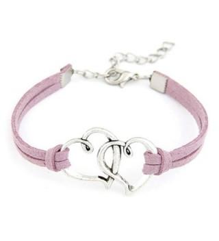 Susenstone Handmade Alloy Rope Charm Jewelry Weave Bracelet - C9121O22V83