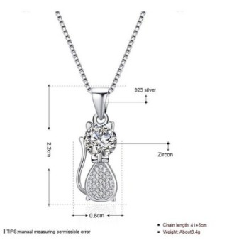 MAZU Necklace Sterling Zirconia Shinning in Women's Pendants