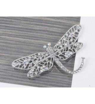Alilang Iridescent Crystal Rhinestone Dragonfly