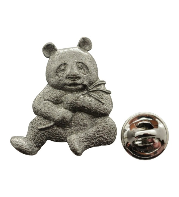 Panda Pin ~ Antiqued Pewter ~ Lapel Pin ~ Sarah's Treats & Treasures - CA12NUXKVFF