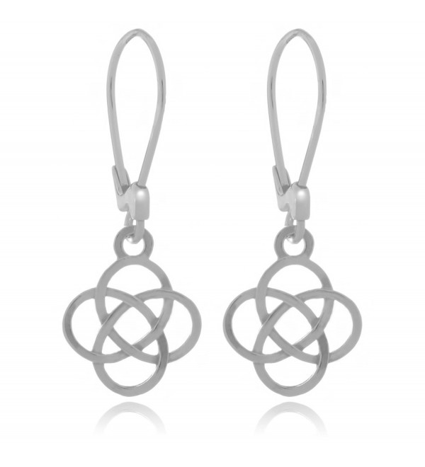 Sterling Silver Celtic Josephine Knot Earrings - CT1897YSYDC