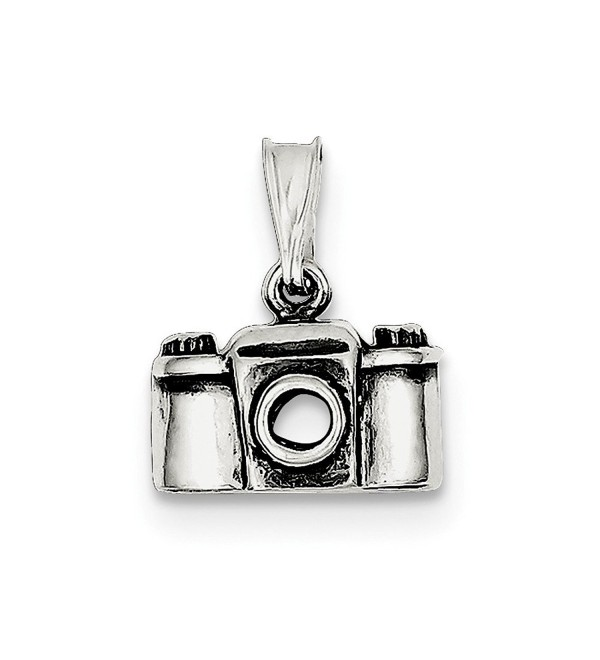 Top 10 Jewelry Gift Sterling Silver Antiqued Camera Charm - CE11MA47KYT
