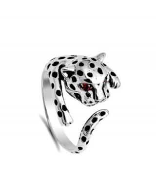 Leopard Simulated Garnet Sterling Silver