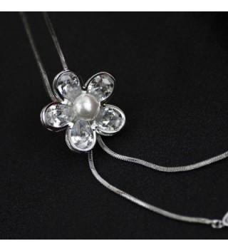 Merdia Created Crystal Simulated Necklace in Women's Y-Necklaces