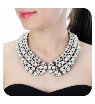 Costume Necklace Holylove Statement Novelty - Pearl - C7188QZO6HY