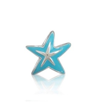 Bling Jewelry Sterling Silver Blue Starfish Nautical Animal Bead Charm - C511547SEZ9