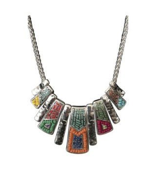 Mosaic American Southwest Turquoise Necklace