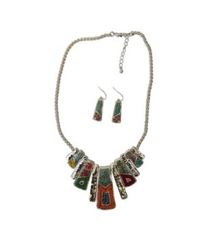 Mosaic American Southwest Turquoise Necklace in Women's Jewelry Sets