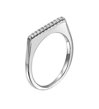 Sterling Stackable Fashion Jewelry Zirconia