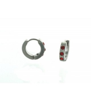 Silver Huggie Earrings Small Stones